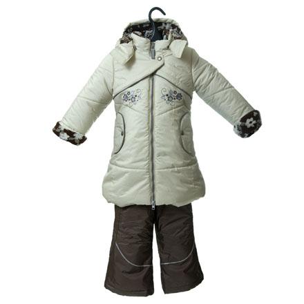 Комплект для девочки (пальто и брюки) из дышащей, водо- и...